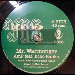 """AMP Records-7""""-Mr Warmonger / Echo Ranks"""