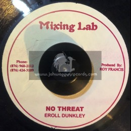"""Mixing Lab-7""""-No Threat / Eroll Dunkley"""