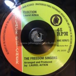 "Black Butcher-7""-Election / The Freedom Singers + Tomorrow's World / Flece & The Live Shocks"