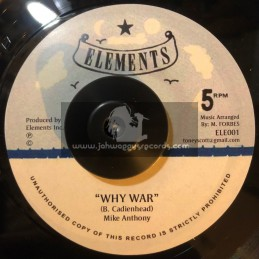 """Elements-7""""-Why War  / Mike Anthony"""