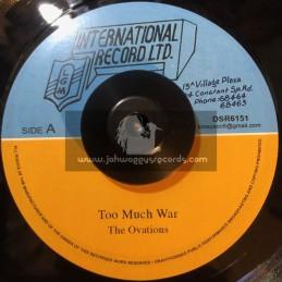 """LGM International Record LTD-7""""-Too Much War / Ovations"""