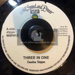 """Word Sound And Power-7""""-Three In One / Creation Stepper"""