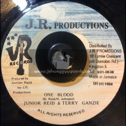 """J.R. Productions-7""""-One Blood (Remix) Junior Reid featuring Terry Ganzie + Strong Sexy Body / Devon Irie"""