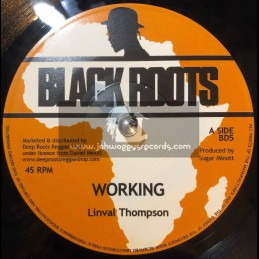 """Black Roots-7""""-Working / Linval Thompson"""