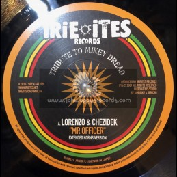 "Irie Ites Records-10""-Mr Officer / Lorenzo & Chezidek - Tribute To Mikey Dread"
