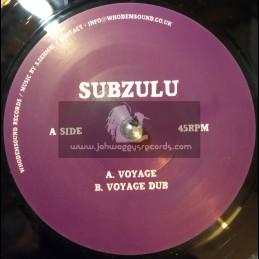"""WhoDemSound Records-7""""-Voyage / Subzulu"""