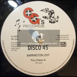 "GG's Records-12""-You Have It / Barrington Levy + You Have A Dub / GG's All Stars"