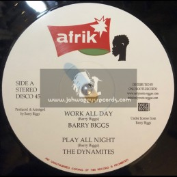 "Afrik-12""-Work All Day / Barry Biggs + Working Mood / Clarence Wears (Guitar Version)"