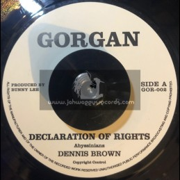 """GORGAN-7""""-DECLARATION OF RIGHTS / DENNIS BROWN"""
