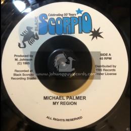 "Black Scorpio-7""-My Region / Michael Palmer"