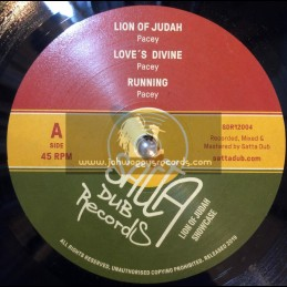 """Satta Dub Records-12""""-Lion Of Judah / Pacey + Love's Divine / Pacey + Running / Pacey"""