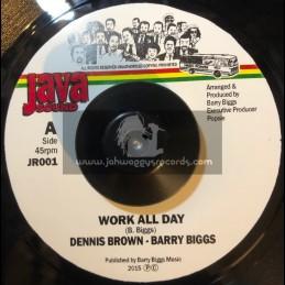 "Java Sound-7"" -Work All Day / Dennis Brown & Barry Biggs"