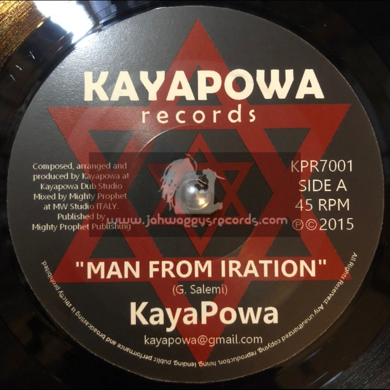 """Kayapower Records-7""""-Man From Iration / Mighty Prophet"""