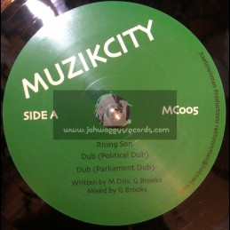 "Muzik City-10""-Rising Son + Political Dub & Supernova / M Diss & G Brooks"