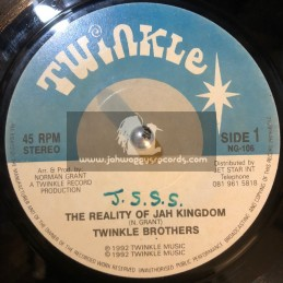 """Twinkle Music-7""""-The Reality Of Jah Kingdom / Twinkle Brothers """