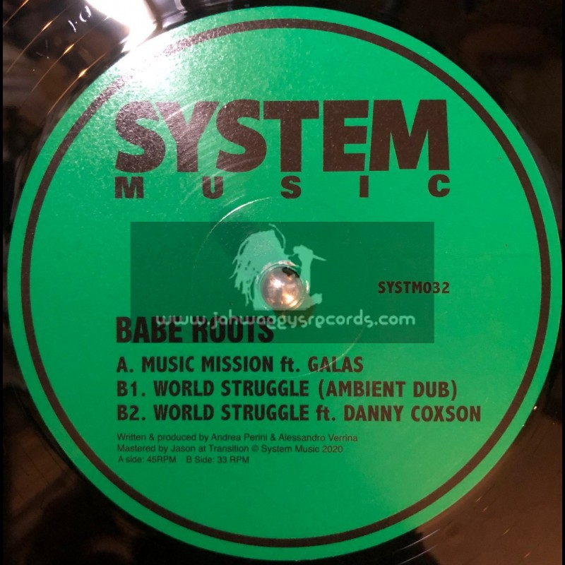 """System Music-12""""-Music Mission / Babe Roots + World Struggle / Babe Roots"""