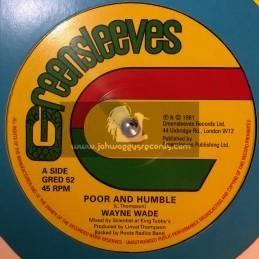 "Greensleeves Records-12""-Poor And Humble / Wayne Wade + Babylonian / Bunny Lie Lie"