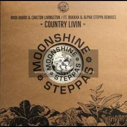 """Moonshine Steppas-12""""-Country Living / Modi Bardo & Carlton Livingston feat. Alpha Steppa & Bukkha"""