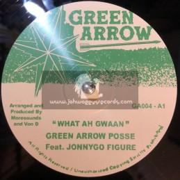 """Green Arrow-10""""-What Ah Gwaan / Green Arrow Posse Feat JonnyGo Figure"""