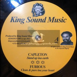 """King Sound Music-12""""-Stand Up Inna Earth / Capleton + Clean & Pure Inna Your Heart / Furious"""