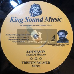 "King Sound Music-12""-Selassie Bless Me / Jah Mason + Beware / Triston Palmer (Sign Up Riddim)"