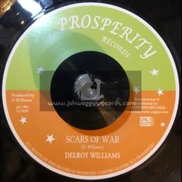 "Prosperity Records-7""-Scars Of War / Delroy Williams"