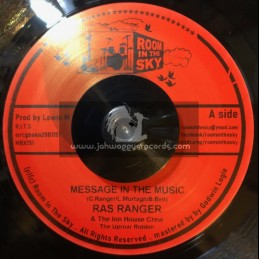 """Room In The Sky-7""""-Message In The Music / Ras Ranger"""