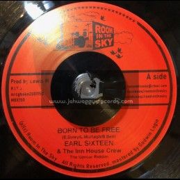 """Room In The Sky-7""""-Born To Be Free / Earl Sixteen"""
