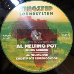 """Kingstep Sound System-12""""-Melting Pot / Reuben Gondor + Voyager / King Stanley"""