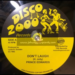 "Disco 2000 Records-Top Ranking Sound-10""-Dont Laugh / Prince Edwards"