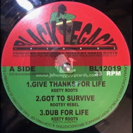 "Black Legacy Records-12""-Give Thanks For Life / Keety Roots"