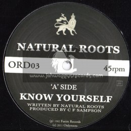 """Natural Roots-12""""-Know Yourself + Wise Man / Natural Roots"""