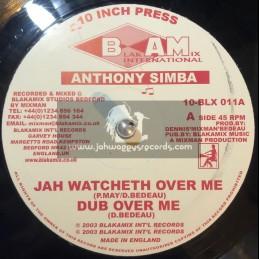 """Blakamix International-10""""-Jah Watcheth Over Me + Young Gun / Anthony Simba"""