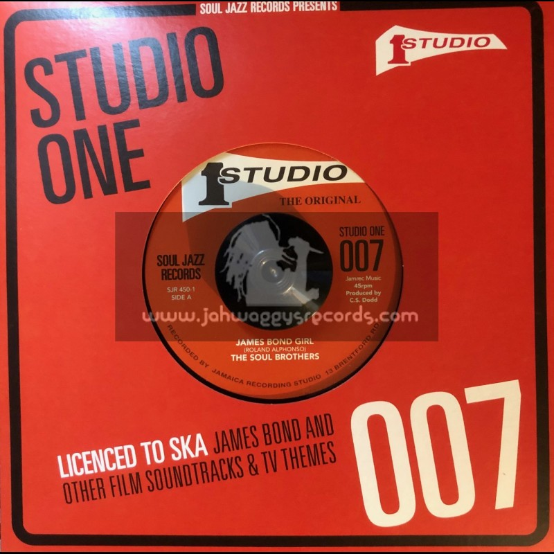 """Studio One-7""""-James Bond Girl / The Soul Brothers + From Russia With Love / Roland Alphonso & The Studio One Orchestra"""