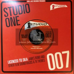 """Studio One-7""""-Thunderball / The Soul Brothers + Hang 'em High / Jackie Mittoo"""