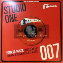 "Studio One-7""-Ball Of Fire / The Skatalites + James Bond Danger Man / The Soul Brothers"
