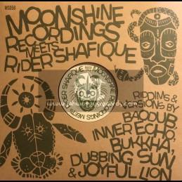"Moonshine Recordings-12""-Moonshine Recordings Meets Rider Shafique ft. Baodub, Bukkha, Dubbing Sun, Inner Echo & Joyful Lion"
