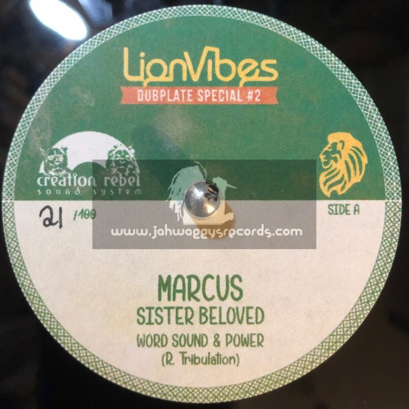 """Lion Vibes-10""""-Poly Vinyl Dubplate Special-2-Marcus / Sister Beloved Meets Word Sound & Power"""