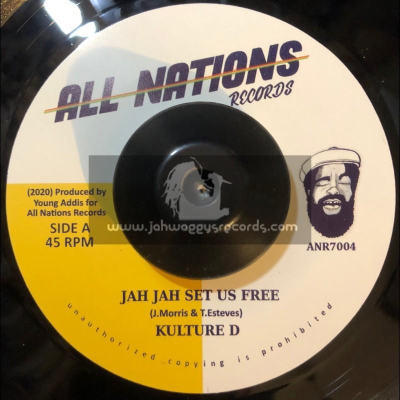 """All Nations Records-7""""-Jah Jah Set Us Free / Kulture D"""
