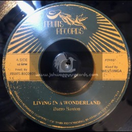 "Fruits Records-7""-Living In A Wonderland / Burro Banton"