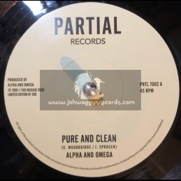 "Partial Records-7""-Pure And Clean / Alpha & Omega (Test Press)"