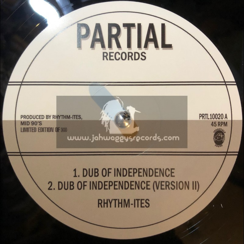"""Partial Records-10""""-Dub Of Independence / Rhythmites + Paranormal Dubwise / Rhythmites"""