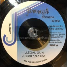 "Jammys Records-7""-illegal gun / Junior Deldado"