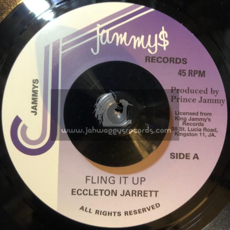"""Jammys Records-7""""-Fling It Up / Eccleton Jarrett"""