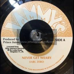 """Jammys-7""""-Never Get Weary / Earl Zero"""