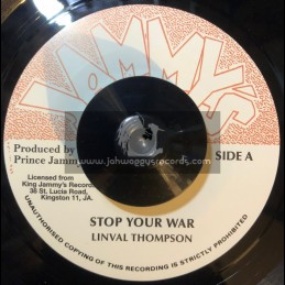"""Jammys Records-7""""-Stop Your War / Linval Thompson"""