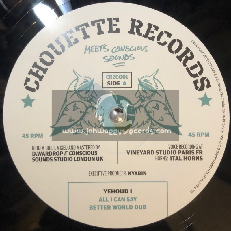 """Chouette Records / Vibes Creator-12""""-All I Can Say /  Yehoud I + Good Things / Yehoud I"""