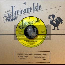"""Treasure Isle-7""""-Practice What You Preach / Owen & Leon Silvera + I'm All Alone / Frank Cosmo"""