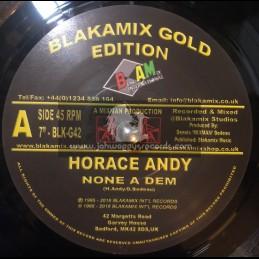 """Blakamix International Gold Edition-7""""-None A Dem / Horace Andy"""
