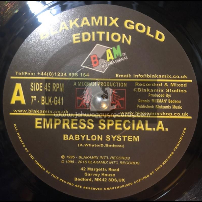 "Blakamix International Gold Edition-7""-Babylon System / Special A"
